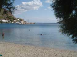 Greek beach in Dodecanese
