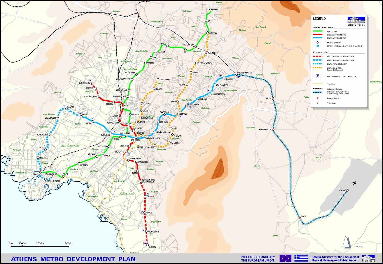 Athens Subway Map