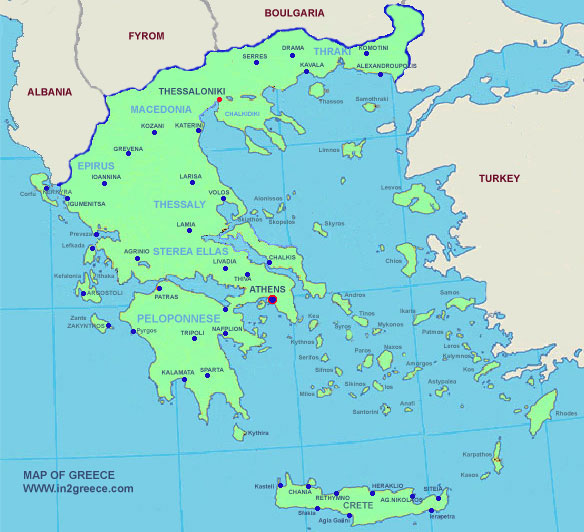 Greece map detailed maps of greece all the regions of greece are marked on the map with numbers in the list you can find the region the prefectures and the maps of the area gumiabroncs Gallery