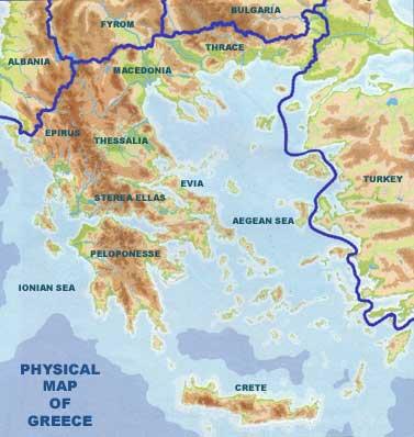 Γεωφυσικος χάρτης Ελλάδας