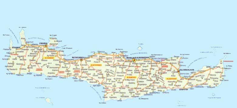 Cartina Geografica Dell Isola Di Creta.Creta Cartina Di Creta