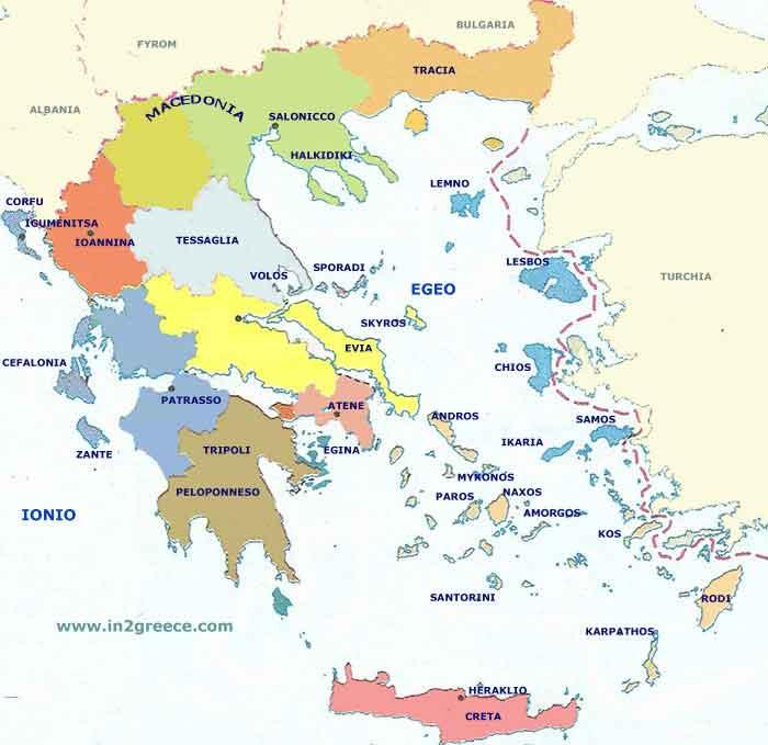 Cartina Della Grecia Con Isole.Isole Greche Scoprire Le 58 Piu Belle Isole Della Grecia
