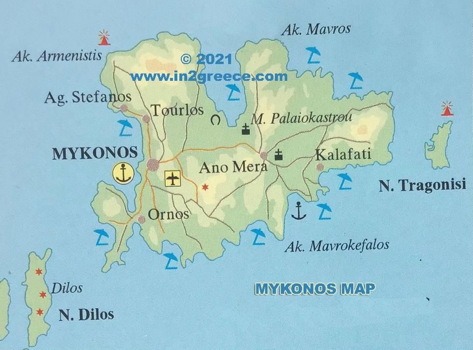mykonos map
