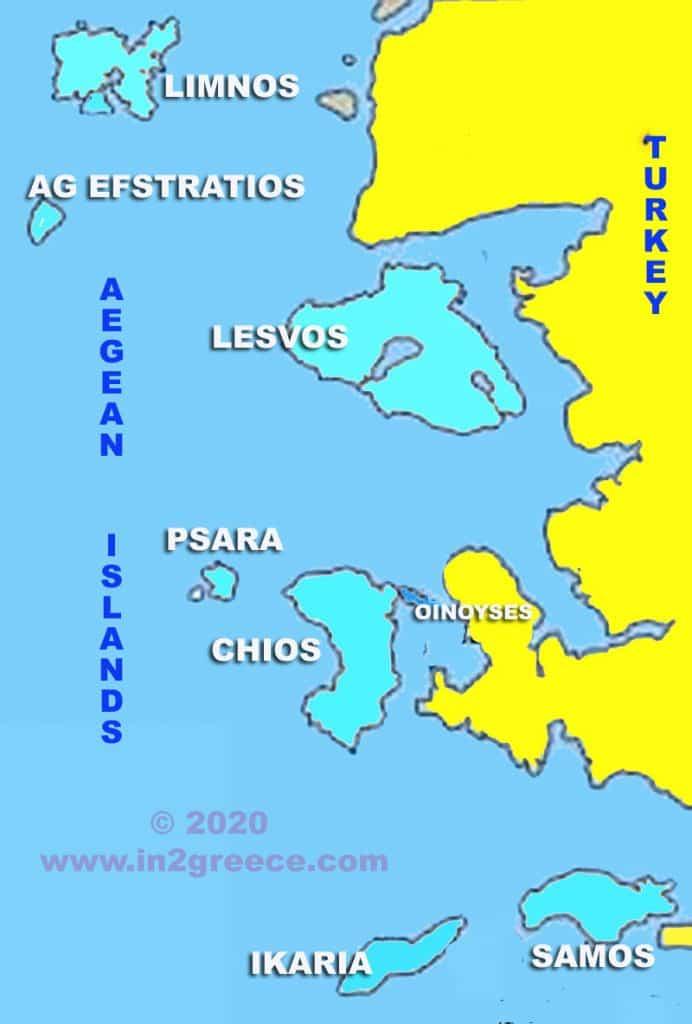 EAST-AEGEAN ISLANDS MAP
